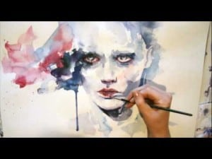 Speed Painting Watercolor Portrait