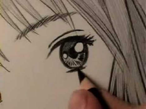 Mark crilley how to draw a manga eye on a young female line by