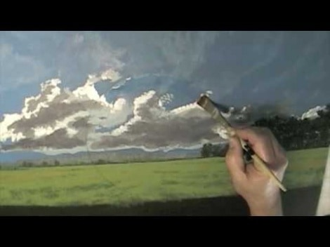 Painting A Landscape With A Barn In Acrylic Paints